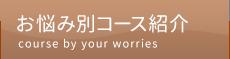 「あおい整骨院」堺市中区深井 お悩み別コース紹介